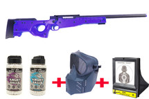 Double Eagle M59 bundle deal includes sniper rifle, bb pellets, net target & protection mask