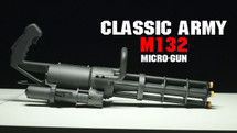 classic army gas m132 micro gun with rotating barrel in box