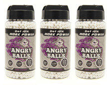 3 pots of angry ball bb pellets 0.25g