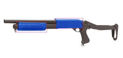 CYMA CM352 M870 Shotgun With Folding Stock in Blue