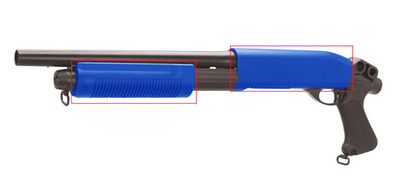 CYMA CM351 Spring Powered durable Shotgun in blue