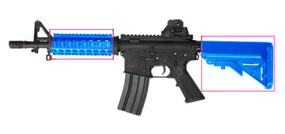 Cyma CM506 M4 Electric Rifle in Blue