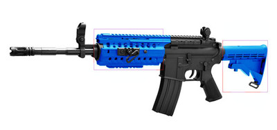 Cyma CM508 M4 Electric Rifle in Blue