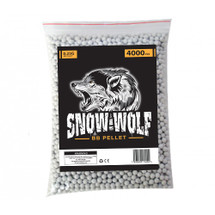 snow wolf bb pellets 4000 x 0.25g (6mm) in bag