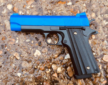 Golden Hawk 2039 M1911 Spring Pistol in blue