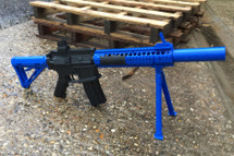 Golden Hawk 2212 M4 Spring Rifle with bipod in blue