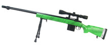 Well MB4405 Airsoft Sniper Rifle in Green with Scope & Bipod in green camo