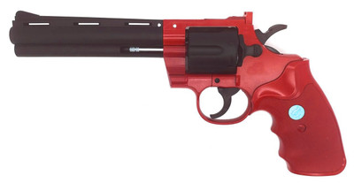Galaxy G36 Revolver spring powered 6-inch barrel in red