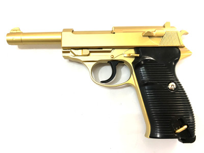 Galaxy G21 Full Metal Walther P38 Airsoft Spring Pistols in Gold