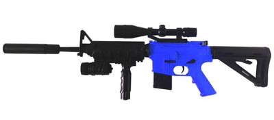 Cyma P1158D M16 Spring Powered Rife in blue