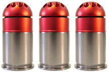 Nuprol 40mm Gas Grenade holds 72 Round in blue (3 pack)