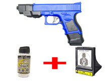 Blue Cyma P698+ Pistol with target net & bb pellets