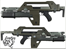 Olive Drab Snow Wolf M41A Pulse AEG Rifle