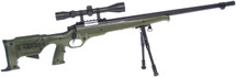 well mb11 airsoft sniper rifle with scope & bipod in army green