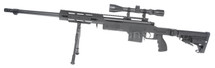 Well MB4412 Airsoft Sniper Rifle with Scope & Bipod in Black