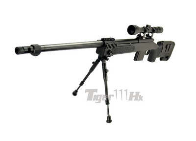 Well MB4416 Airsoft Sniper Rifle with scope & bipod in Black