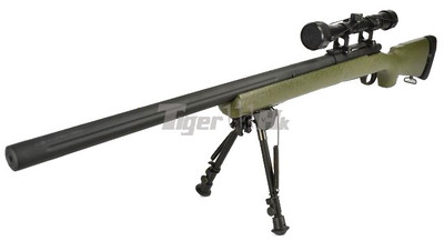 Snow Wolf SW-04JG Sniper Rifle with scope & bipod in Olive Drab