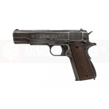 "Armorer Works Custom 1911 ""Molon Labe"" Gas Blowback Pistol Brown Grips"