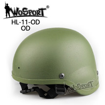 Wo Sport MICH 2000 Combat Airsoft Helmet in Olive Drab