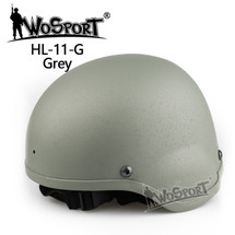 Wo Sport MICH 2000 Combat Airsoft Helmet in Gray