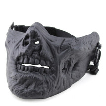 Wo Sport Lower Face Zombie Mask in Black