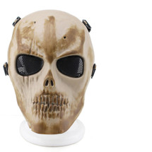 Wo Sport Skull Plastic Mask V1 (Round Mesh) Dried Bone