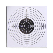 14 cm paper target in white for airguns