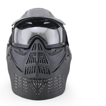 Wosport Transformers Ultimate Airsoft Mask with Clear Lens in Black