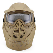 Wosport Transformers Ultimate Airsoft Mask with Clear Lens in tan