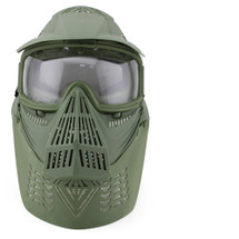 Wosport Transformers Ultimate Airsoft Mask with Clear Lens in Olive Drab/green