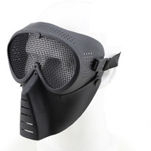 Wo Sport Sand Trooper Metal Mesh Mask in Black