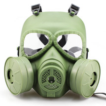 WoSport Air Filtration Gas Mask with Twin Fans in Olive Drab