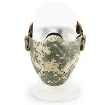 Wosport Half Face Brave Airsoft Mask in ACU Camo