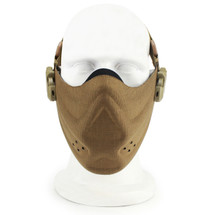 Wosport Half Face Brave Airsoft Mask in Tan