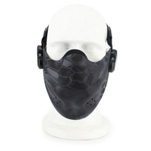 Wosport Half Face Brave Airsoft Mask in kryptek Typhon Camo