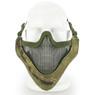 Wosport Half Face V-Master Airsoft Mask in Flecktarn Camo
