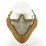 Wosport Half Face V-Master Airsoft Mask in Sand/Tan