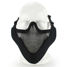 Wosport Half Face V-Master Airsoft Mask in Black