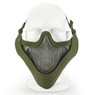 Wosport Half Face V-Master Airsoft Mask in Olive Drab