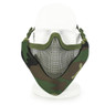 Wosport Half Face V-Master Airsoft Mask in WoodLand