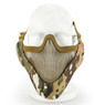 Wosport Half Face V-Master Airsoft Mask in MultiCam