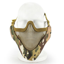 Wosport Half Face V-Master Airsoft Mask in MultiCam