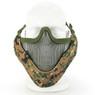Wosport Half Face V-Master Airsoft Mask in Digital Woodland