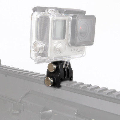 Go Pro Mount for Airsoft Gun R.I.S Rail in Black