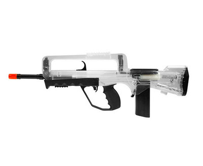 Double Eagle M46A Famas spring bb gun in Clear/black