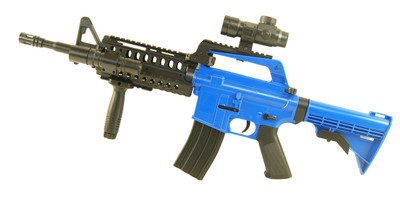 Well MR733 Colt M4 BB Gun Rifle in Blue