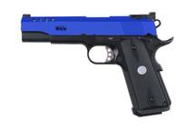 Army Armament R30-1 Custom M1911 GBB Pistol in Blue
