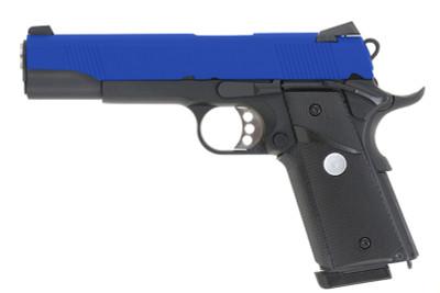 Army Armament R27 M1911 hi kick GBB Full Metal in Blue