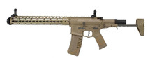 "Ares Amoeba Honey Badger 13.5"" Keymod Handguard in Tan"