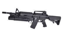 E&C M4A1 Carbine AEG with M203 Grenade Launcher in Black (EC-701)